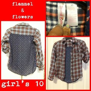 Other - Flowers and Plaid Flannel